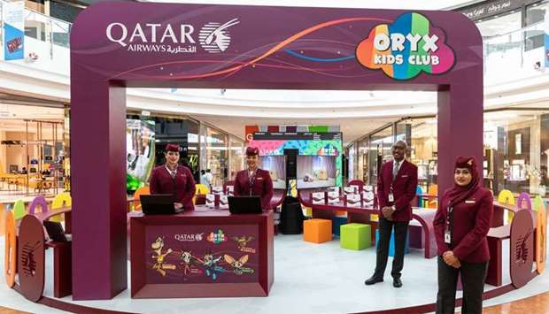 Qatar Airways' digital drawing booth at the Mall of Qatar welcomes young travellers.