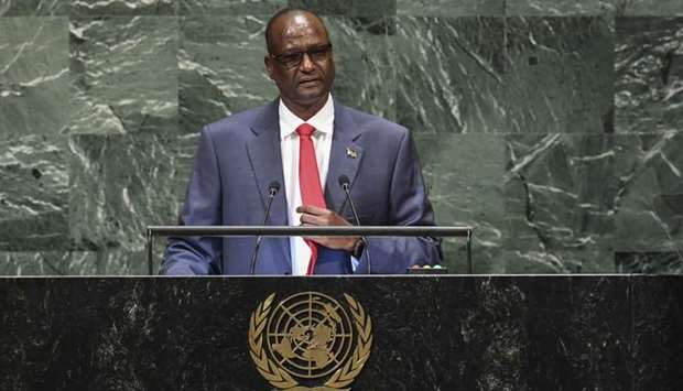 South Sudan's First Vice President Taban Deng Gai speaks during the General Debate of the 73rd sessi