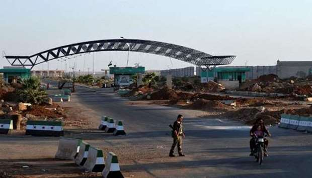 The Syrian-Jordanian border at the Nasib crossing in Deraa province