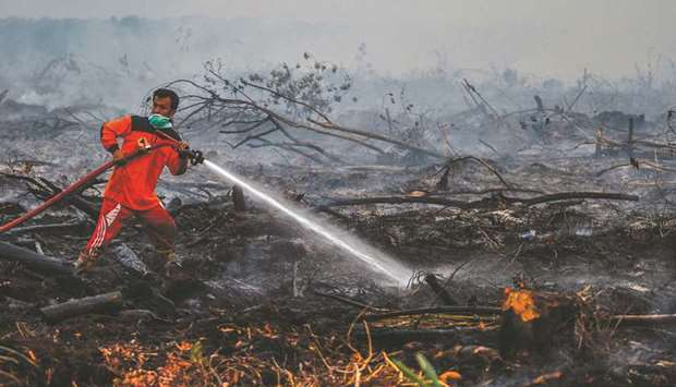 Indonesian firefighter