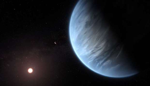 K2-18b super-Earth, the only super-Earth exoplanet known to host both water and temperatures that co