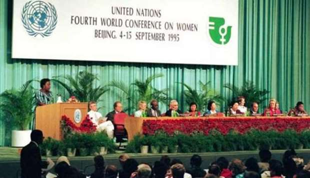 Opening day session of the Fourth World Conference on Women in Beijing