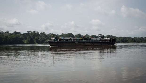 A boat on DR Congo river