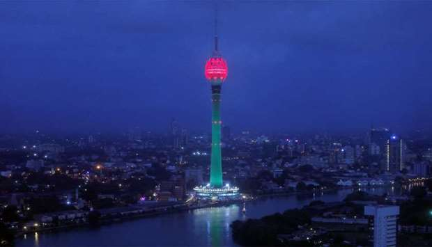 The Lotus Tower, the tallest tower in South Asia in shape of a 356-meter lotus and built with Chines