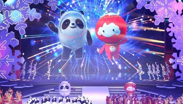 Mascots for the 2022 Olympic and Paralympic Winter Games are unveiled during a launch ceremony in Be