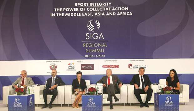 The panellists discuss various issues related to integrity in sports. PICTURE: Jayaram
