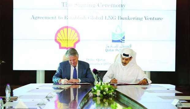 HE al-Kaabi sign pact with Beurden to establish an entity to provide global LNG bunkering services