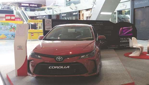 All-new Toyota Corolla 2020 displayed at Doha Festival City