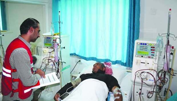 Overall, the project has covered the costs of 8,885 dialysis sessions for a total of 418 patients.