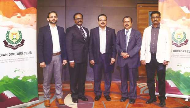 Dr Sabir Karim, Dr Joji Mathews, Dr Raveendran P, Dr Shahul Hameed and Dr Thomas David, IDC joint se