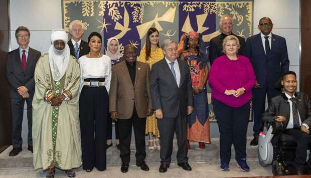 Sheikha Moza attends SDG Advocacy meeting