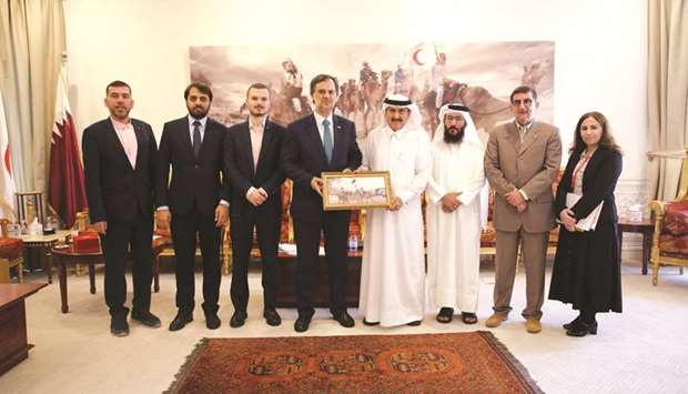 QRCS officials with the Turkish delegation.
