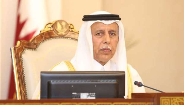 HE the Speaker of the Shura Council Ahmed bin Abdullah bin Zaid al-Mahmoud