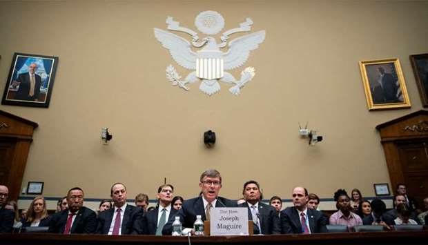 Maguire, acting director of national intelligence, testifies during a House Permanent Select Committ