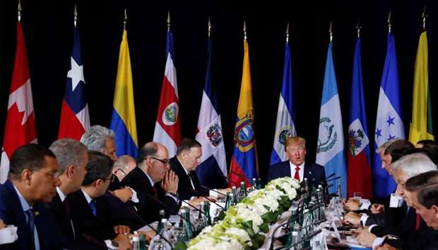 US President Trump attends meeting on Venezuela during 74th session of the United Nations General As