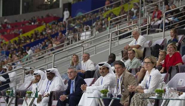 Amir attends part of IAAF Championships Doha