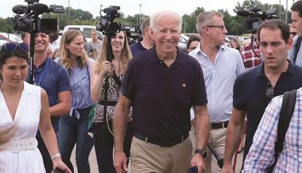 Biden: stands to suffer as voters begin to focus on other candidates