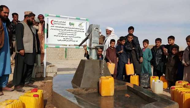 QRCS provides drinking water, sanitation services in Afghanistan