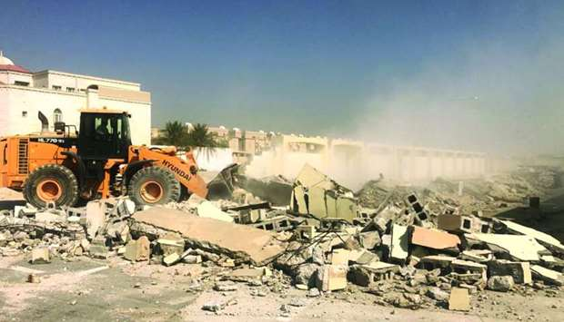 Removal of encroachments in Al Wakrah