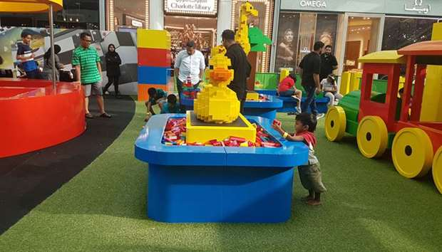 The Lego festival at Doha Festival City