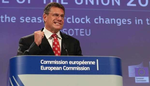 European Commission Vice President Maros Sefcovic will travel to London to meet British counterpart