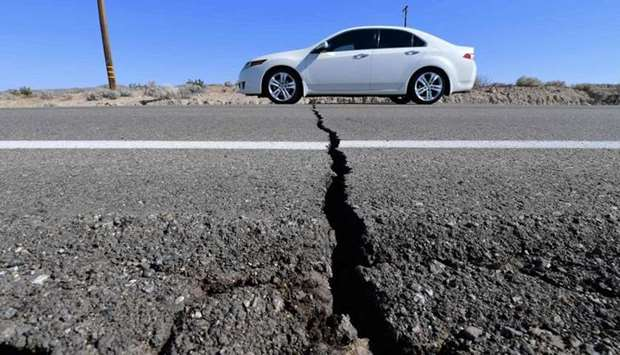 The quake was at a depth of 44 km.