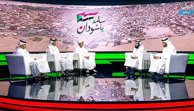 The Sudan floods relief donation campaign underway on Qatar TV
