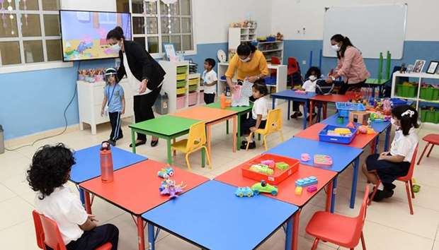Stafford Sri Lankan School Doha opens new Pre-Primary wing. PICTURES: Shaji Kayamkulam