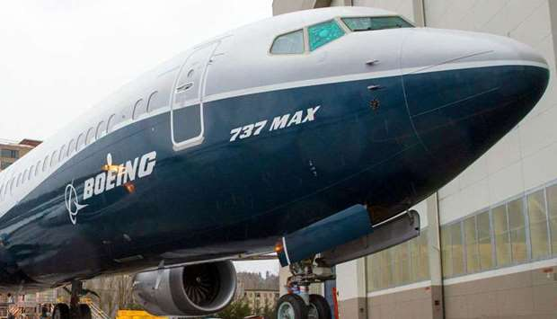 The first Boeing 737 MAX 9 airliner is pictured at the company's factory in Renton, Washington. A 24