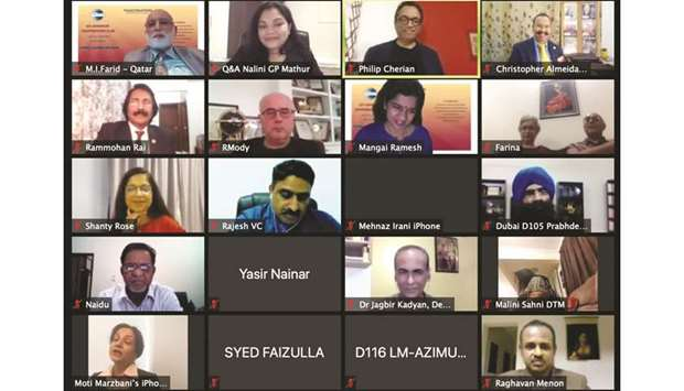 Online meeting of ICC Advanced Toastmasters Club.