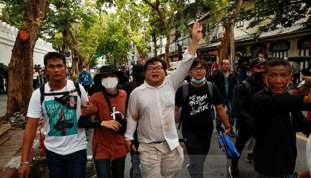 Thailand protests.