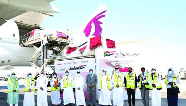 HE Akbar al-Baker and other dignitaries and officials at Hamad International Airport.