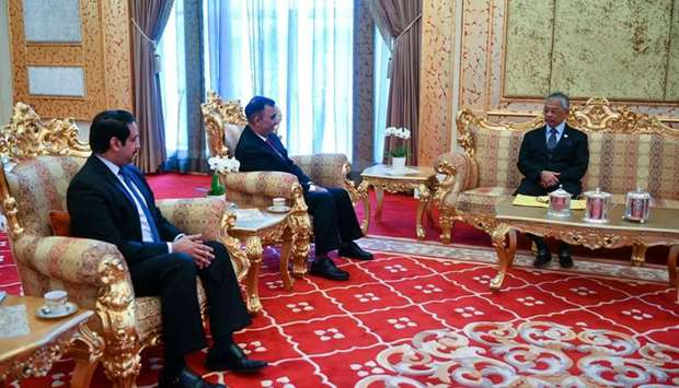 HM King of Malaysia met with Ambassador of the State of Qatar to Malaysia