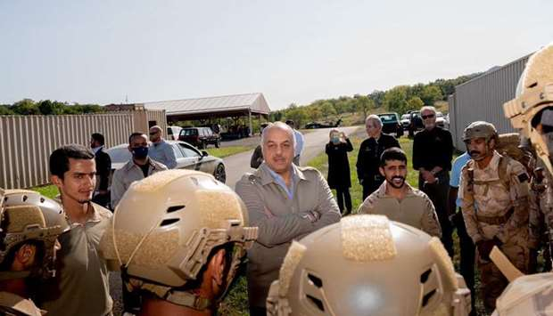 HE was accompanied during the visit by Qatar's Ambassador to the United States and Qatari military a