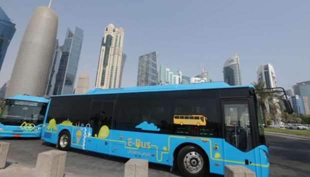 An electric bus in Qatar (File picture).