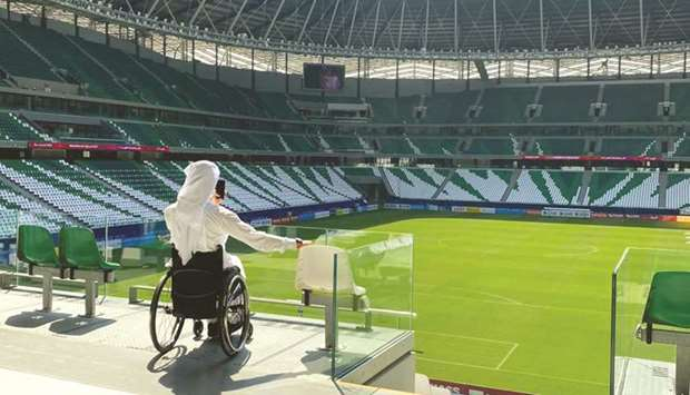 During the visit, members of the Accessibility Forum were given a tour of all the stadium's accessib