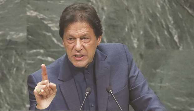Prime Minister Khan: called upon the world to take steps to counter the illicit flows of money, and
