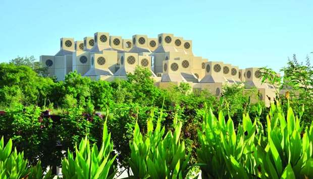 A view of the Qatar University campus.