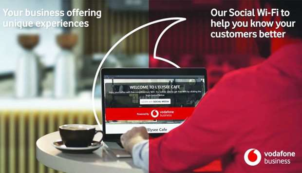 Vodafone Qatar's Social Wi-Fi seeks to help hotels, restaurants, cafes, gyms, salons, and all busine