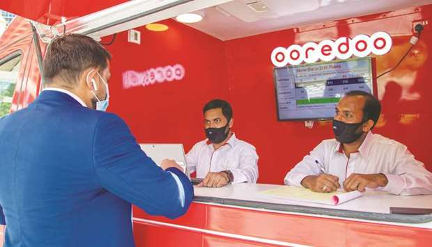 The Mini Shop on Wheels will offer customers all regular Ooredoo services normally available in shop
