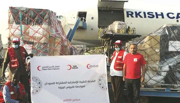 The cargo was delivered at Khartoum International Airport, containing 12.5 tonnes of medical equipme