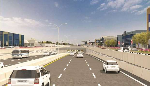 The development work will include the construction of a tunnel with three lanes in each direction to