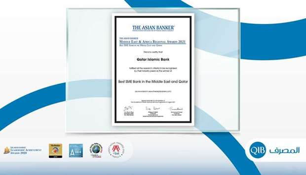 QIB awarded 'Best SME Bank in the Middle East and Qatar' by The Asian Banker