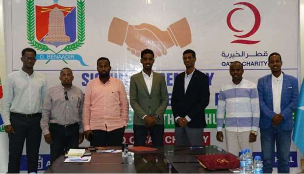 Qatar Charity signs MoU with wealth department in Somalia's Banadir