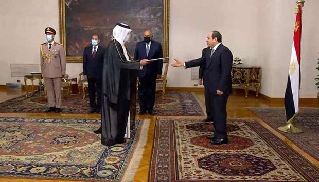 HE the President of the Arab Republic of Egypt Abdel Fattah Al Sisi receives the credentials of HE S