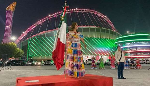 Qatar landmarks adorn colours of Mexican flag to mark Mexican National Day