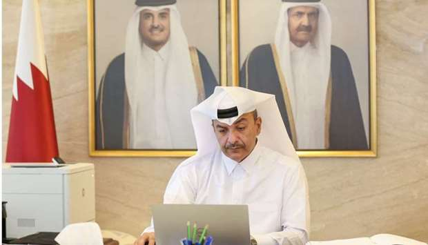 The State of Qatar was represented at the two meetings by HE the Minister of Administrative Developm