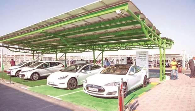 A file picture of the Tarsheed photovoltaic station for energy storage and charging electric vehicle