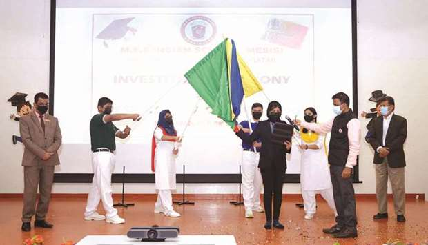 MES Indian School, Abu Hamour branch (MESIS), conducted an investiture ceremony for student council