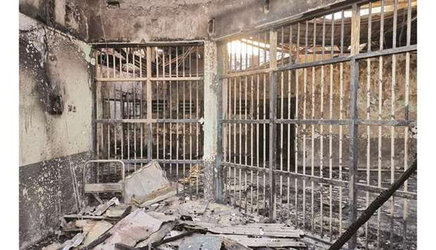 The Indonesian ministry of law and human rights release a picture of the prison in Tangerang where a